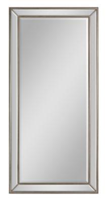 Villa Marie Beveled Mirror - Silver Leaf