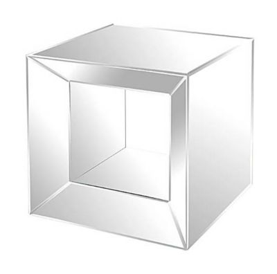 Mirrored Side Table with Opened Center