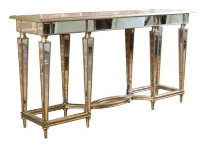 Emerson Console Table - Platinum Shimmer