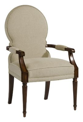 Sadie Arm Chair - Port with Fawn Fabric