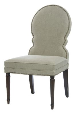 Sadie Side Chair - Port with Fawn Fabric