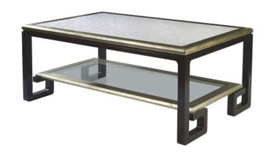 Cicero Cocktail Table - Espresso Luxe & Pale Gold