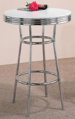 Soda Fountain Chrome Bar Table