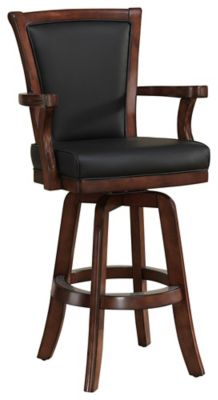 Auburn Wood Bar Height Stool with Swivel