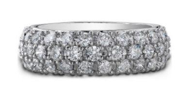 14k White Gold Diamond Wedding or Fashion Band