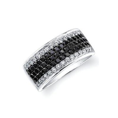 Black and White Diamond Modern Fashion Band
