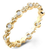 Yellow Gold Stackable Gold Ring