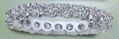 14kt. White Gold Eternity Band