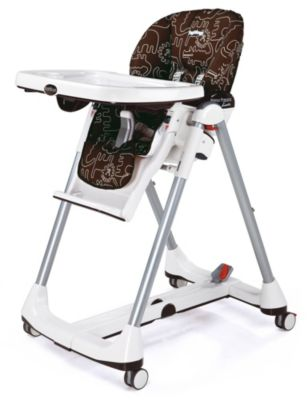 Prima Pappa Diner High Chair - Brown/Savana Animals