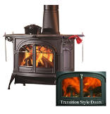 Defiant FlexBurn Wood Stove with Transition Doors
