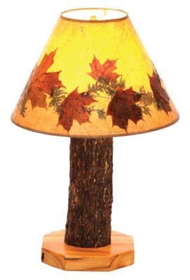 Hickory Table Lamp with Large Foliage Lamp Shade