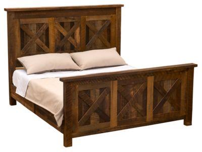 Barnwood Barndoor King Bed