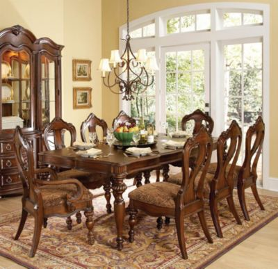 Prenzo Leg Dining Table - Warm Brown