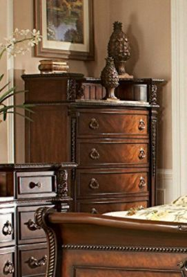 Palace 5-Drawer Chest - Rich Brown