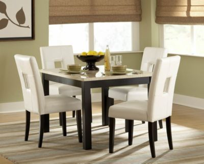 Archstone Dining Table - Black & White