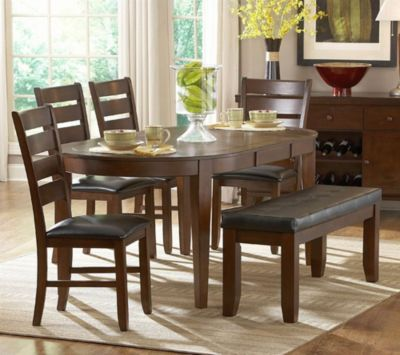 Ameillia Oval Dining Table - Dark Oak