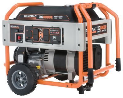 XG8000E Series Portable Generator with Electric Start