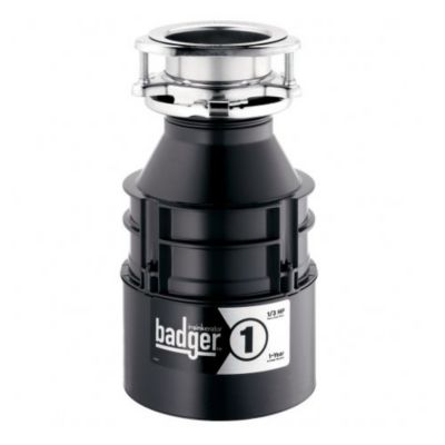 Badger® 1™ Continuous-Feed Food Waste Disposer - Waterborne Grey Enamel