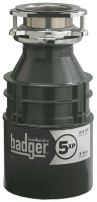 Badger® 5XP™ Continuous-Feed Food Waste Disposer - Waterborne Grey Enamel