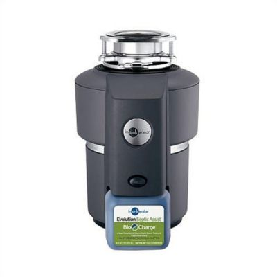 Evolution Septic Assist® Continuous-Feed Food Waste Disposer - Black Enamel/Gray