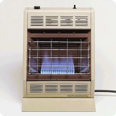 10,000 BTU Liquid Propane Blue Flame Vent Free Room Heater - Beige & Brown