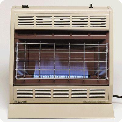 30,000 BTU Natural Gas Blue Flame Vent Free Room Heater - Beige & Brown