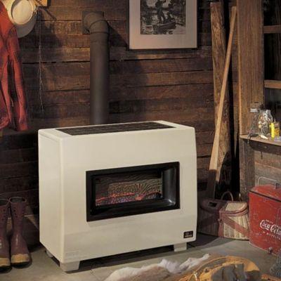 65,000 BTU Liquid Propane Visual Flame Room Heater - Beige