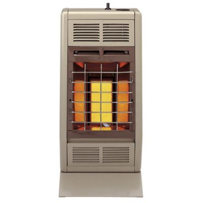 10,000 BTU Natural Gas Vent Free Room Heater - Beige & Brown
