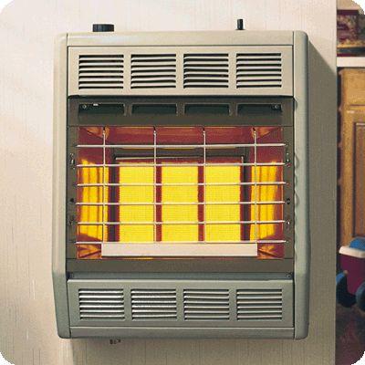 18,000 BTU Natural Gas Vent Free Room Heater - Beige & Brown