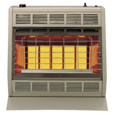 30,000 BTU Liquid Propane Vent Free Room Heaters - Beige & Brown