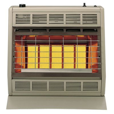 30,000 BTU Natural Gas Vent Free Room Heater - Beige & Brown