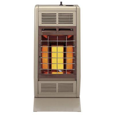 6,000 BTU Liquid Propane Vent Free Room Heater - Beige & Brown