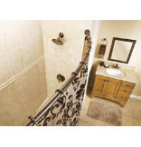 Old World Bronze Adjustable Curved Shower Rod