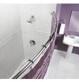 Chrome Adjustable Curved Shower Rod