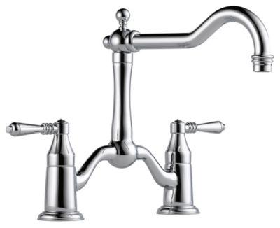 Tresa® 2-Handle Bridge Kitchen Faucet - Polished Chrome