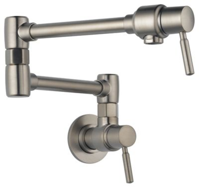 Euro Wall Mount Pot Filler - Brilliance® Stainless