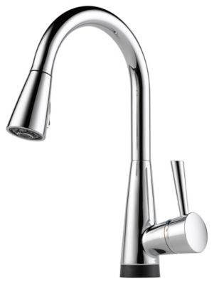 Venuto® Single-Handle Pull-Down Kitchen Faucet with SmartTouch® - Polished Chrome