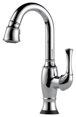 Talo® Single-Handle Pull-Down Bar/Prep Faucet with SmartTouch® - Polished Chrome