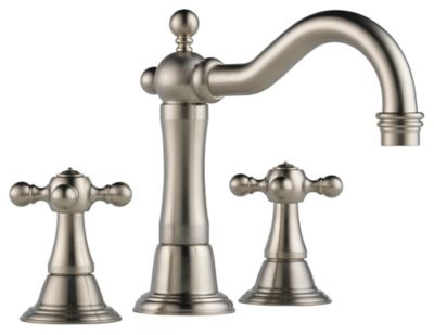 Tresa® Widespread Lavatory Faucet with Cross Handles - Brilliance® Brushed Nickel