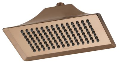 RSVP™ Touch-Clean® Ceiling-Mount Single Function Raincan Showerhead - Brilliance® Brushed Bronze