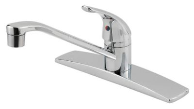 Pfirst Series™ Single Handle Kitchen Faucet - Polished Chrome