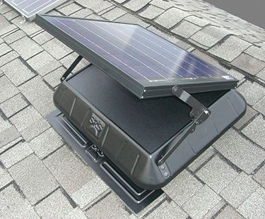 Sun Rise­™ 1600 Solar-Powered Flat Base Attic Fan with Tilting Panel