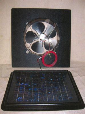 Sun Rise™ 1050 Solar-Powered Gable Attic Fan - 15 Watts