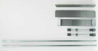 Single Louvered Trim Kit for Tall Door Stainless Twins