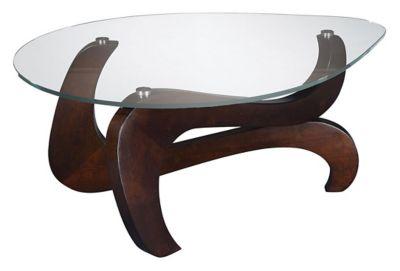 Nassau Shaped Cocktail Table - Rich Merlot