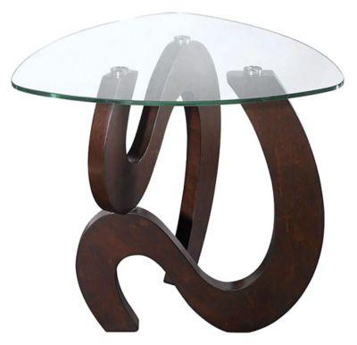 Nassau Shaped End Table - Rich Merlot
