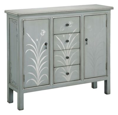 Selina 2-Door Accent Cabinet - Silver Blue/Grey