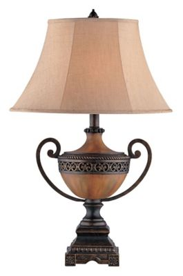 Chadwick Urn Table Lamp - Burnished Wood