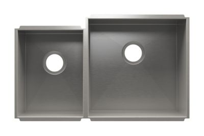 UrbanEdge Undermount Kitchen Sink with Double Bowl