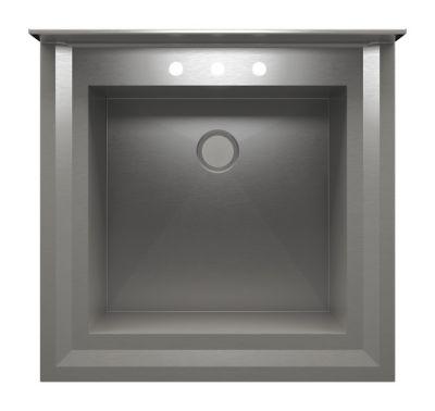 UrbanEdge + Pedestal Utility Sink with Single Bowl